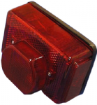 LUCAS Retro Style Red Stop/Tail light. LU53973; As fitted to 1972-84 Triumph Models.